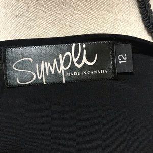 Sympli Tops - Sympli Black Tunic 3/4 Slv Top With Cut Outs Sz 12